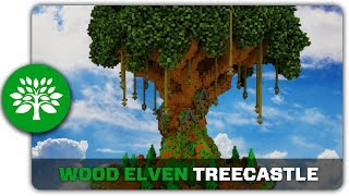 Minecraft Building Tutorial : How to build a Wood Elven Treecastle YouTube