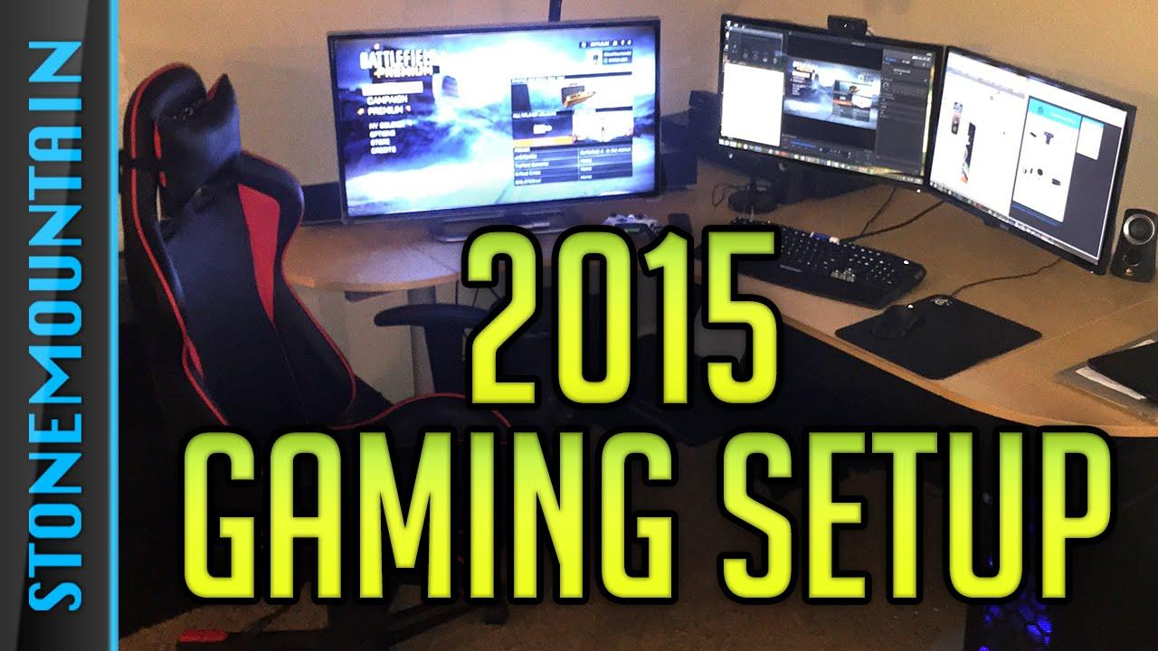 Gaming Setup 2015 Console  Custom PC Setup  YouTube