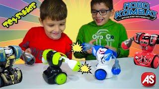 Robo Kombat Μαχητές Ρομπότ CHALLENGE Γιώργος Vs Μάριος Παιχνίδια AS Silverlit