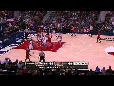 Detroit Pistons vs Atlanta Hawks | January 19, 2015 | NBA 2014-15 Season