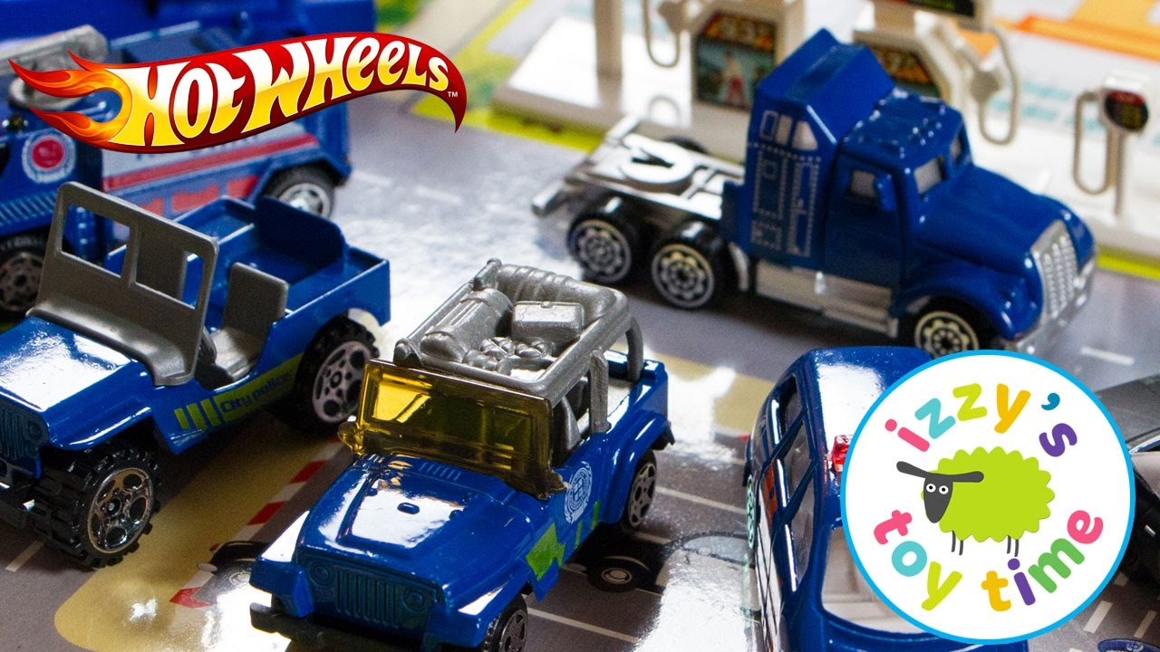 Cars For Kids Hot Wheels Fast Lane Police City Playset For Kids
