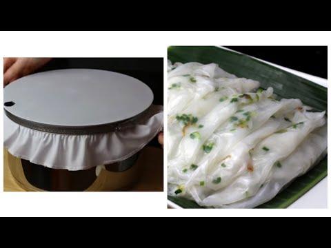 Bánh cuốn bột gạo - Cách làm nồi tráng đơn giản - Pha bột gạo bánh cuốn dai ngon   Bếp Nhà Diễm  