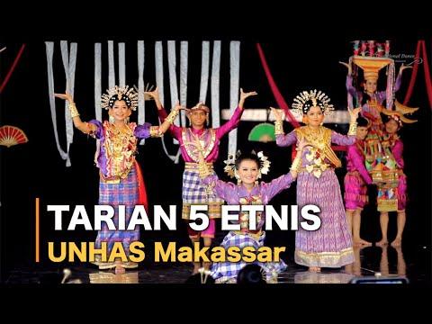 Tari 5 Etnis - Mahasiswa UNHAS (Makassar, Bugis, Toraja, Mandar & Mamasa)