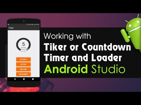 Android Studio Tutorial - Working With Ticker Library | Countdown Timer | Loader With Custom Text