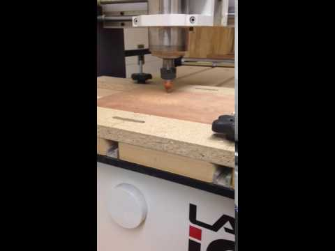 CNC Machine Printing Gold Award Sign