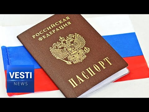 Home At Last! LNR/DNR Residents Line Up For Russian Passports After Putin's Decree!