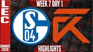 S04 vs XL Highlights | LEC Summer 2020 W7D1 | Schalke 04 vs Excel