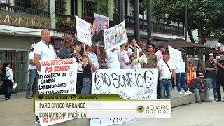 Paro Cívico transcurrió con marcha pacífica