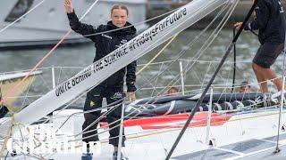 'It was rough': Greta Thunberg makes emissions-free trip across Atlantic