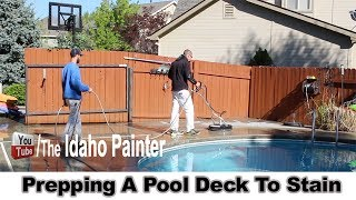 How to paint a pool deck.  Acryla-Deck pool coating application.