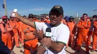 Trabalhadores da construção do Hospital Regional Vale do Jaguaribe em Limoeiro reivindicam melhores salariais e obra continua paralisada