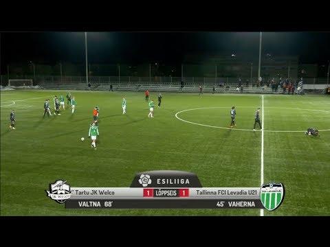 4. voor 2018: Tartu JK Welco - Tallinna FCI Levadia U21 1:1 (0:1)