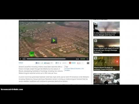 Breaking News!! Massive 2.25 Mile Wide Tornado Hits Moore Oklahoma!!