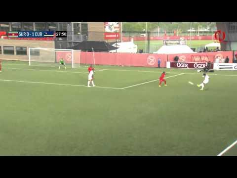 Suriname vs Curacao   Eerste Helft 20 mei 2015