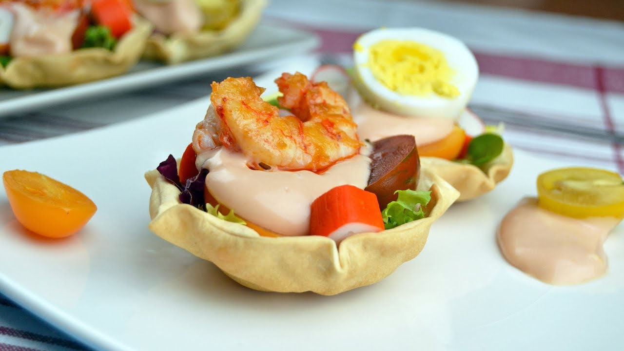 maxresdefault - Egg / Shrimp Salad Cups - Super Easy Party Appetizer Recipe