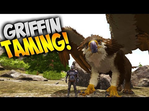 Griffin Taming with xB - Ark Ragnarok DLC (Ark Survival Evolved Gameplay)
