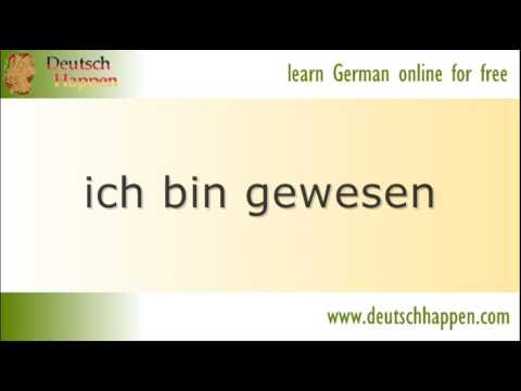 Learn German Grammar - 20 most used verbs 1 sein to be