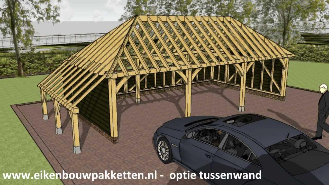 Garage Met Carport : Carport bouwen hoe bouw ik eiken bijgebouw of zelfbouw garage