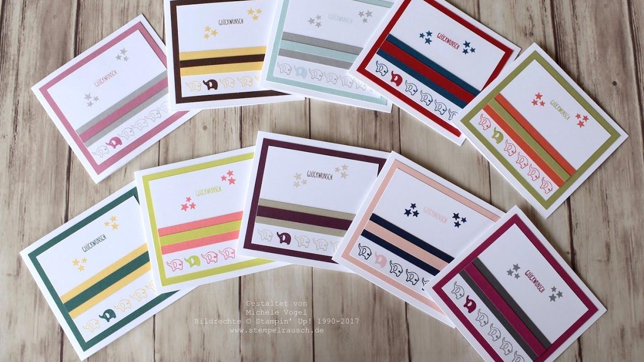 babykarten mit dem stempelset kurz gefasst stampin 39 up youtube. Black Bedroom Furniture Sets. Home Design Ideas