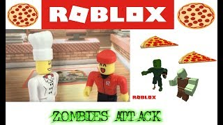 ROBLOX IN REAL LIFE: ZOMBIES ATTACK PIZZA TYCOON | ROBLOX STOP MOTION ANIMATION