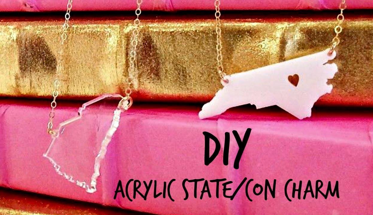 Diy easy acrylic charm youtube diy easy acrylic charm mozeypictures Choice Image