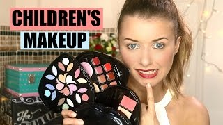 FULL FACE USING KIDS MAKEUP! / CHILDREN