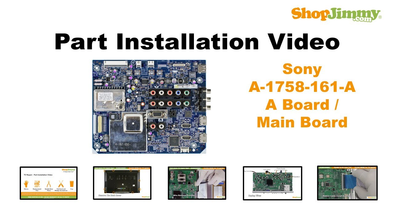 SONY TV Repair KDL55 Main Boards Replacement Guide for