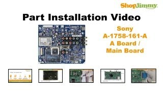 SONY TV Repair KDL-55 Main Boards Replacement Guide for Sony LCD TV Repair