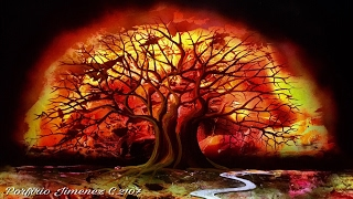 Fire tree spray paint art(Spray paint art tutorial by Porfirio Jimenez C Thanks for watching my friends https://www.porfiriojimenez.me https://www.porfiriojimenezc.wix.com/sprayart., 2016-04-16T06:06:28.000Z)