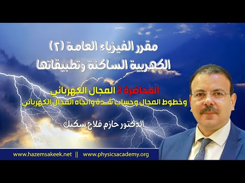 المحاضرة 3 المجال الكهربي Electric Field جامعة الازهر - غزة