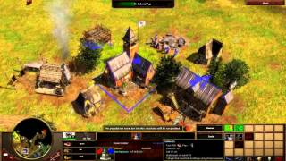 Age of Empires 3 - 1vs3 THEY ABANDONED ME | Multiplayer Gameplay