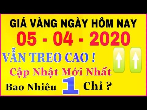 giá vàng 9999 hôm nay 5/4/2020 bao nhiêu một chỉ ? | giá VÀNG SJC 9999 24K Vẫn CAO Chót Vót ?