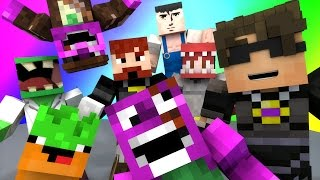 Minecraft Mini-Game : DO NOT LAUGH! (MY BLACKHOLE STOMACH AND THE DEMON CABLE COMPANY) w/ Facecam