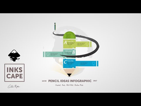 Inkscape Infographic: Pencil Idea