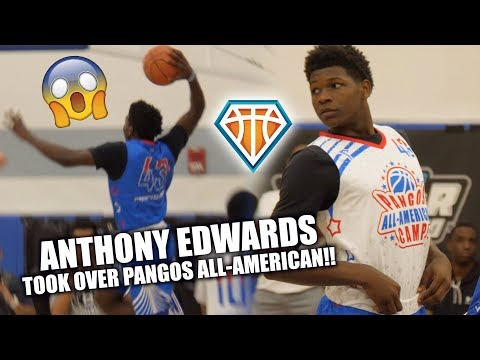 Anthony Edwards TOOK OVER PANGOS ALLAMERICAN!!  6'5 Wing Will Be a HOUSEHOLD NAME