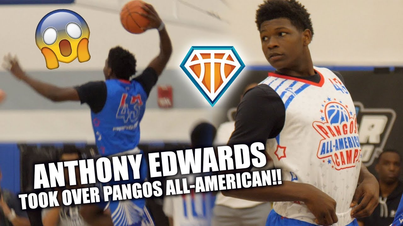 ab66c27e48af Anthony Edwards TOOK OVER PANGOS ALL-AMERICAN!!