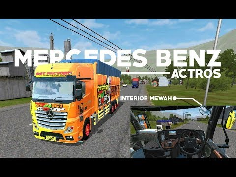 Interior Mewah Mod Bussid Truck Mercedes Actros Cvt By Wsp