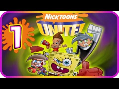 Nicktoons Unite Walkthrough Part 1 (PS2, Gamecube) The Ghost-Zone Prison + Boss