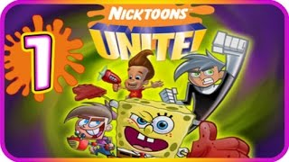 Nicktoons Unite Walkthrough Part 1 (PS2, Gamecube) The Ghost-Zone Prison + Boss