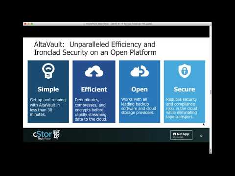 Enabling Cloud Integrated Storage with AltaVault - cStor Webinar Aug. 16, 2017