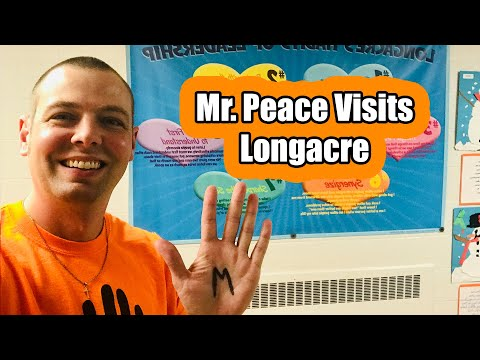 Mr. Peace Visits Longacre Elementary School in Farmington, Michigan