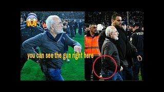 PAOK owner Ivan Savvidis halts Greek Superleague clash while carrying gun