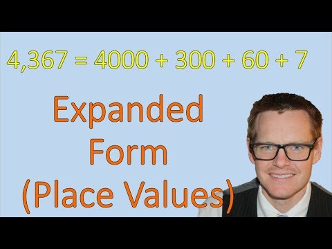 Expanded Form Of Numbers And Place Values Simplifying Math Youtube