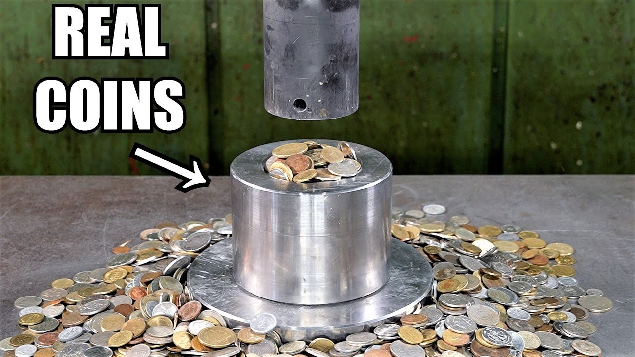 Can You Turn Coins into Solid Metal with Hydraulic Press