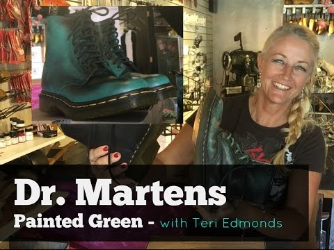 Dr. Martens: How To Paint Green