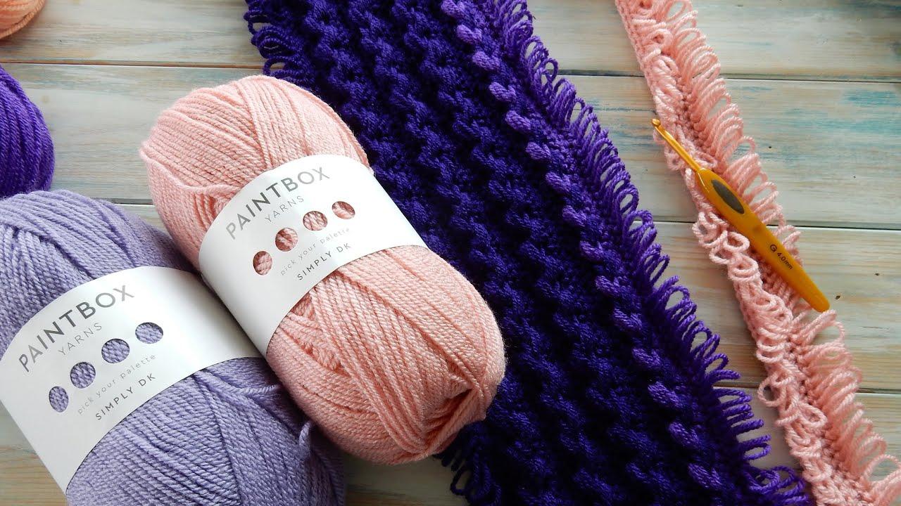 Mile A Minute Loop Stitch Braid Baby Blanket Paintbox