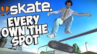 100% Complete & All Own The Spot Challenges | End of EA Skate 1