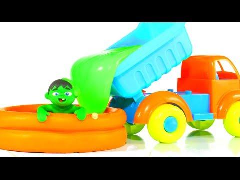 SUPERHERO BABY PLAYING WITH GREEN SLIME ❤ SUPERHERO PLAY DOH CARTOONS FOR KIDS