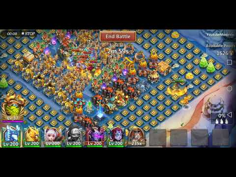 How To Clear Strong Base In Guild War In Castle Clash,