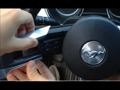 How To Remove Mustang Steering Wheel Cover Youtube